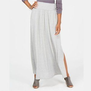 NWT Style & Co. Slit Maxi Skirt Light Gray #3491